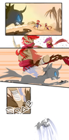 Epic Ninja Pony Action Comic by kagekitsoon