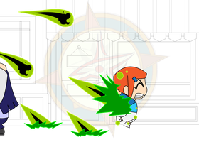 Chibi Chain - Alien Attack - Gwen Hit by Dragon-FangX