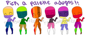 Palette Adopt Set 2 (CLOSED) by TechSupportGirls