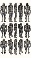 Mass Effect, Male Explorer Armour Heavy by Troodon80