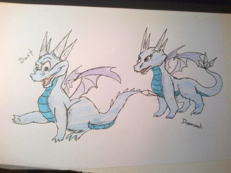 Ice Dragon Twins by Kyle1jk