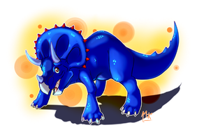 commission - Matt the Triceratops by MarAlmok
