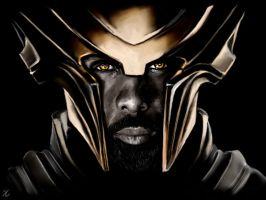 Heimdall painting by Aquila--Audax