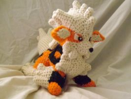 Arcanine Plushie by PixelCrochet