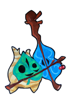 Legend of Zelda: Wind Waker - Makar the Korok by briteddy