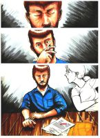 B.Y.O.B. A graphic Novel Class Project Page 1 by Masque-De-Mort