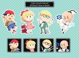 Earthbound Acrylic Charms! by Gumwad201
