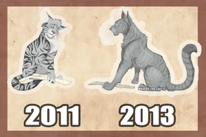 Then and Now .:Jayfeather:. by Mganga-The-Lion