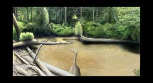 Nanshiungosaurus pond by Hyrotrioskjan