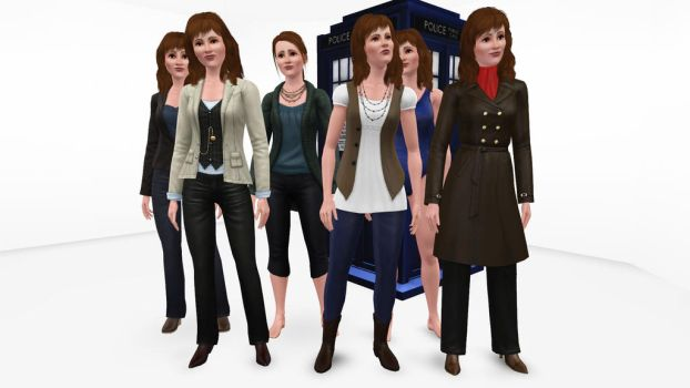 The Sims 3 - Doctor Who - Sarah Jane Smith by exangel42