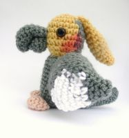 grey cockatiel amigurumi by e1fy