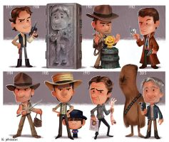 The Evolution of Harrison Ford by JeffVictor