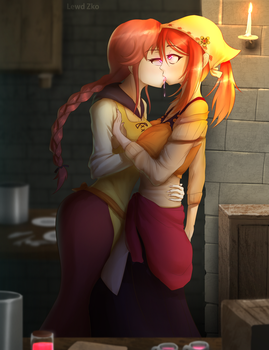 Irene and Helena Try a Love Drug by Lewd-Zko