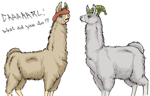 Llamas... With Hats by Trish-the-Stalker
