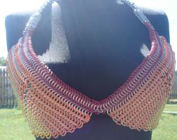 Chainmaille Bikini top front by montanaflash23