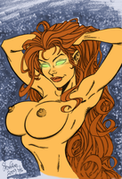 Starfire Pinup by Blackmoonrose13
