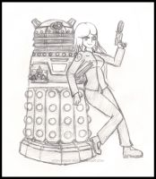Dalek X and his Overseer by Jace-san