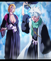 Bleach 547 - Toushiro and Rangiku by the103orjagrat