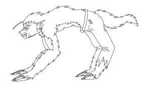 Michiro wolf Outline by KOAnimation
