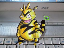 Paperchild 198.Pokemon#125 - Electabuzz by FuriarossaAndMimma