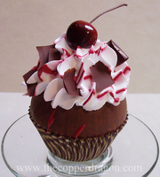 'Black Forest' Fake Cupcake by TheCopperDragon2004