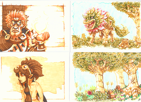 Copic drawings by Neoriceisgood