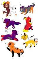 Halloween themeed adopts by FoodStamps23