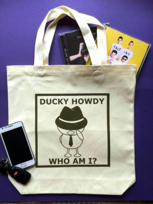 Large Ducky Howdy Tote Bag by qrst319