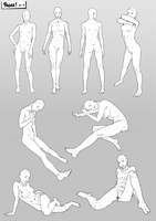 Poses pt1 by SabreWing