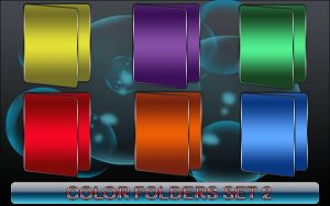Color Folders Set 2 by 0dd0ne