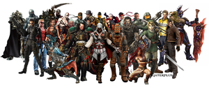 Mix of games characters by Gaterplus