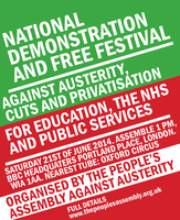 People's Assembly Demo Poster by Party9999999