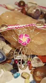 Fairy Bohemian dream Catcher Necklace Sterling  by Wolf-Lady-bsparks85
