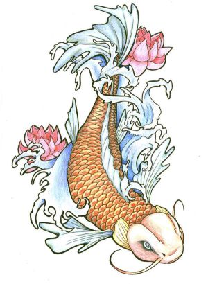 Japanese Koi Fish Tattoo Designs Picture 3