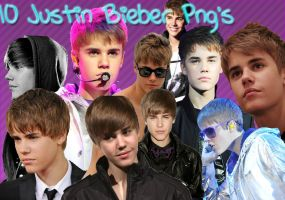 10 Justin Bieber Png's by AnnieDrew