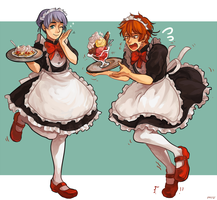 natural talent maid + clumsy moe maid by Miupoke