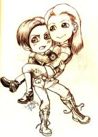 Adriell and Anton Chibi by LyrykenLied