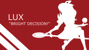 Lux Quote Silhouette - Red - White - 1920x1080 by urban287