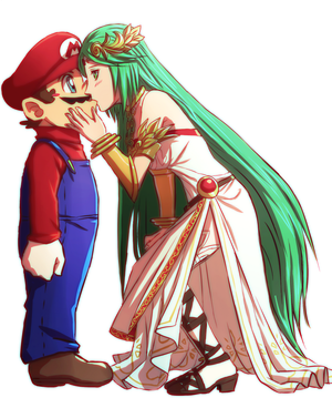 Commission : Mario and Palutena by ForeverMedhok