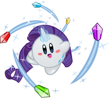 Rarity Kirby by jrk08004