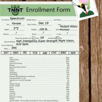 TMNT U Enrollment: Spectrum by WazzupMinecraft9327