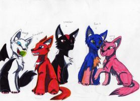 sonic team as wolves by RACHLOVEDRAW