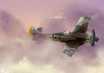 Flight at Sunset (FW 190 A-8) by Heliocathus