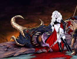 Lady Death 23 wrap around cover by MDiPascale