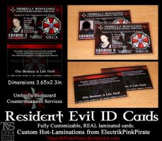 Laminated RE ID Cards by ElectrikPinkPirate