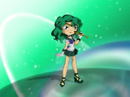 Chibi Sailor Neptune by thedustyphoenix