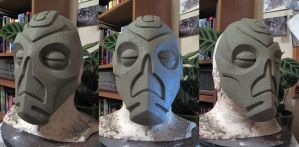 Dragon Priest Mask Sculpt Finished by Thomasotom