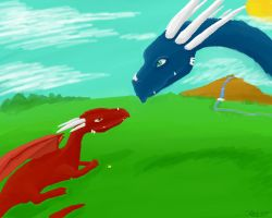Two Dragon Meet by Superpersonx