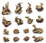 Animal Brooches by mtomsky