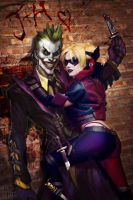 Joker and Harley 4eva By Justin and Jiajem by Raggedy-Annedroid